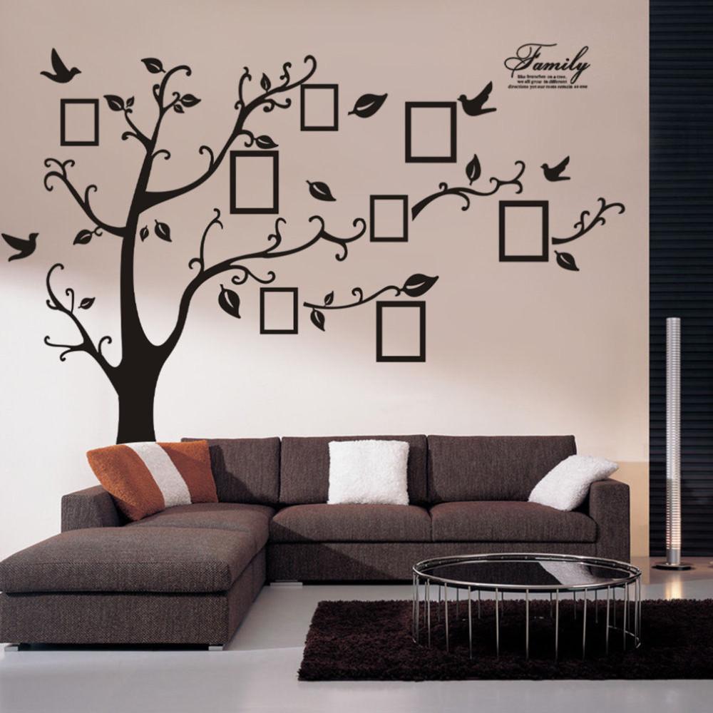 copac fundal decor camera vinil perete familie home decor