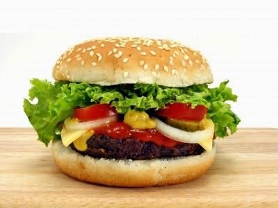 Hamburger apetisant si stilizat